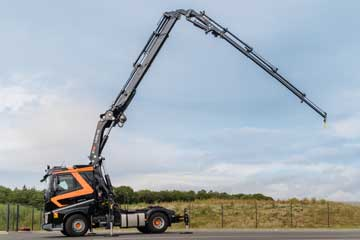 Camion grue levage